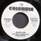 BAND AID~Do They Know it's Christmas?~Columbia 04749 Promo VG+ 45