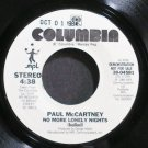 PAUL MCCARTNEY~No More Lonely Nights~Columbia 04581 (Rock) Promo VG++ 45