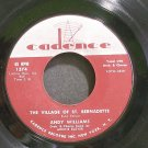ANDY WILLIAMS~The Village of St. Bernadette~Cadence 1374 (Jazz Vocals)  45