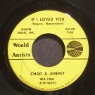 CHAD & JEREMY~If I Loved You~World Artists 1041  45