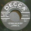 GRADY MARTIN~Grady Martin & His Winging Strings, Part 2~Decca 2232 (Rockabilly)  45 EP