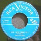 HOMER & JETHRO~Cold, Cold Heart No. 2~RCA Victor 4397 Rare HEAR 45