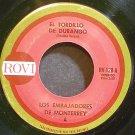 LOS EMBAJADORES DE MONTERREY~El Tordillo De Durango~Rovi 128 M- 45