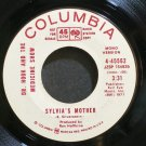 DR. HOOK & THE MEDICINE SHOW~Sylvia's Mother~Columbia 45562 (Soft Rock) Promo VG+ 45