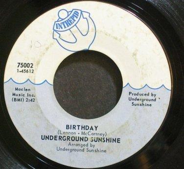 UNDERGROUND SUNSHINE~Birthday~Intrepid 75002 (Garage Rock)  45