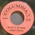 JOHNNY HORTON~The Battle of New Orleans~Columbia 41339  45