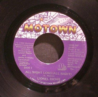 LIONEL RICHIE~All Night Long (All Night)~Motown 1698 MF (Soul) M- 45