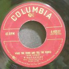 MINDY CARSON~Wake the Town and Tell the People~Columbia 40537 (Jazz Vocals)  45