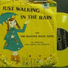 "THE SANDPIPERS~Just Walking in the Rain~Golden R375 Yellow VG+ 7"" 78 RPM Vinyl"
