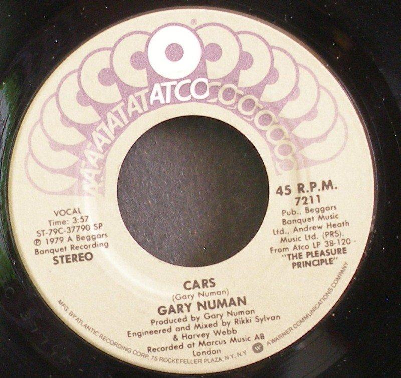 GARY NUMAN~Cars~ATCO 7211 (Synth-Pop) M- 45
