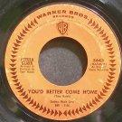 PETULA CLARK~You'd Better Come Home~Warner Bros. 5643  45
