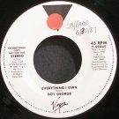 BOY GEORGE~Everything I Own~Virgin 7-99445 (Synth-Pop) Promo VG++ 45