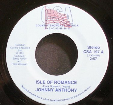 JOHNNY ANTHONY~Isle of Romance~CSA 197 VG++ 45