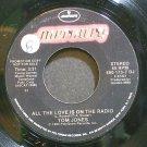 TOM JONES~All the Love is on the Radio~Mercury 173-7 DJ Promo VG+ 45