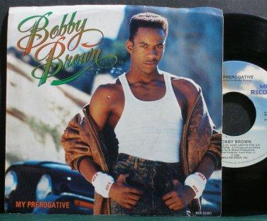 BOBBY BROWN~My Prerogative~MCA 53383 VG+ 45