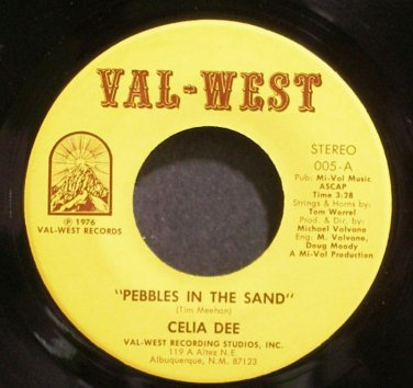 CELIA DEE~Pebbles In the Sand~Val-West 005/006 VG++ 45