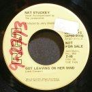 NAT STUCKEY~Got Leaving on Her Mind~RCA 0115 Promo 45