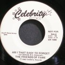 FRIENDS OF FAME~Am I That Easy to Forget~Celebrity 1000 Promo VG++ 45