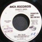 MEL TILLIS~Charlie's Angel~MCA 40983 Promo 45