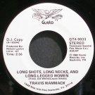 TRAVIS WAMMACK~Long Shots, Long Necks, and Long-Legged Women~Gusto 9033 (Rock & Roll) Promo VG++ 45