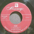 RICHARD HAYMAN~Ruby~Mercury 70115-X45 (Easy Listening)  45
