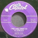 FRANCES FAYE~I Wish I Could Shimmy Like My Sister Kate~Capitol F2278 (Jazz Vocals)  45