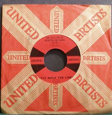 DON COSTA~I'll Walk the Line~United Artists 190 VG+ 45