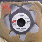 GARY WRIGHT~I Know~A&M 1344-S (Progressive Rock) Promo Rare VG+ 45