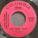PAUL REVERE & THE RAIDERS~Too Much Talk~Columbia 44444 (British Invasion)  45