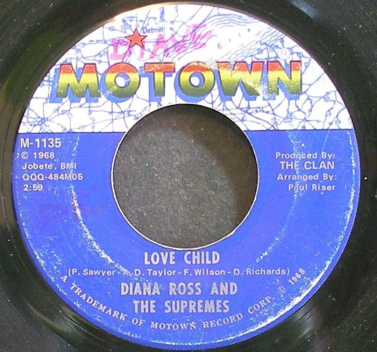 DIANA ROSS & THE SUPREMES~Love Child~Motown 1135 (Soul)  45