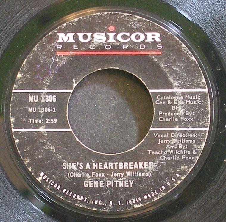 GENE PITNEY~She's a Heartbreaker~Musicor 1306 (Rock & Roll)  45