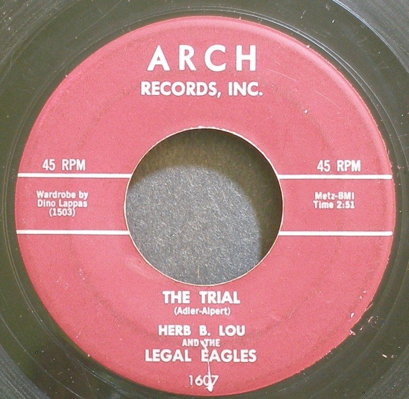 LEGAL EAGLES~The Trial~Arch 1607 (General Rock)  45