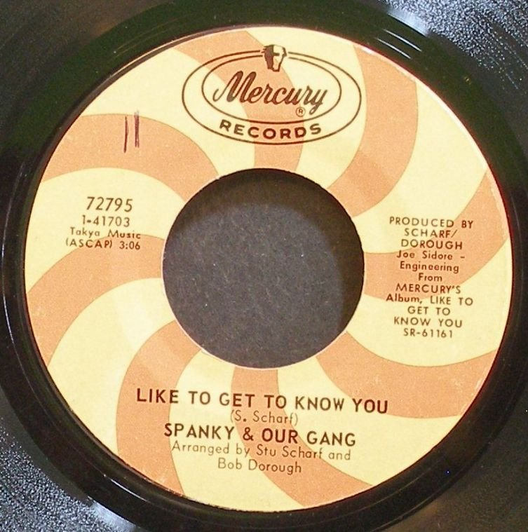 SPANKY & OUR GANG~Like to Get to Know You~Mercury 72795 (Folk-Rock) VG+ 45
