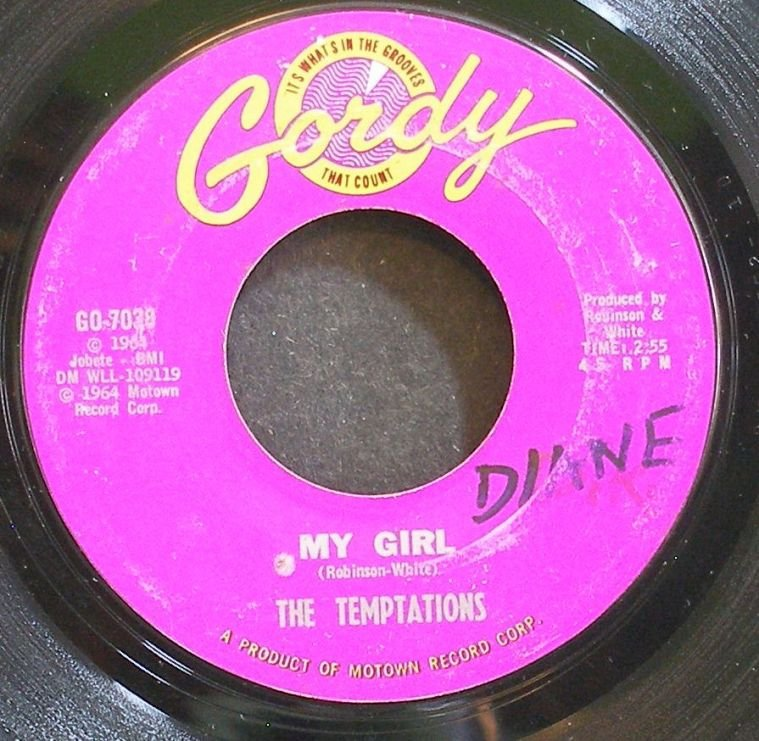 TEMPTATIONS~My Girl~Gordy 7038 (Soul) 1st VG+ 45