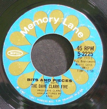 DAVE CLARK FIVE~Bits and Pieces~EPIC 2225 (British Invasion)  45