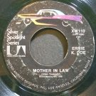 ERNIE K-DOE & THE MAJORS~Mother in Law~United Artists XW110 (Soul)  45