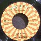MIRACLES~Got a Job~Roulette 88 (Soul) Rare VG+ 45