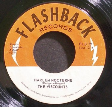VISCOUNTS~Harlem Nocturne~Flashback 29 (Surf Rock)  45