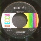 BRENDA LEE~Fool #1~Decca 31309 (Rock & Roll)  45