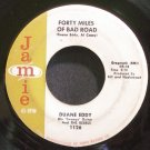 DUANE EDDY~Forty Miles of Bad Road~Jamie 1126 (Instrumental Rock)  45