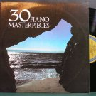VARIOUS~30 Piano Masterpieces~Columbia House 837 VG++ LP