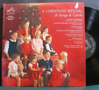 VARIOUS~A Christmas Festival of Songs & Carols~RCA Victor 170 (Christmas) VG+ LP