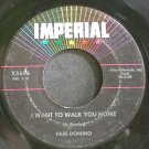 FATS DOMINO~I Want to Walk You Home~IMPERIAL X5606 (Rock & Roll)  45