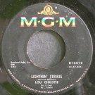 LOU CHRISTIE~Lightnin' Strikes~MGM K13412  45