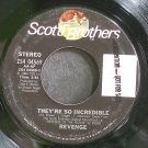 REVENGE~They're So Incredible~Scotti Bros. 04569 (Synth-Pop) Rare VG+ 45