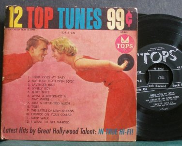 VARIOUS~12 Top Tunes, Volume 29 & 30~TOPS 45-S29 / 45-S30 Rare 45 EP