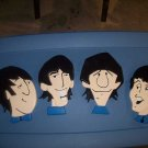 Beatles painted intarsia art