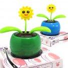 Cute Green Solar Energy Swing SunFlower Home/Car Decorative