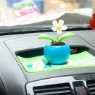 Cute Blue Solar Energy Swing Flower Home/Car Decorative
