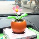 Cute Orange Solar Energy Swing Apple Flower Home/Car Decorative